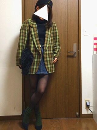 ◎nonno◎さんの「使用禁止××【靴下屋】毛混ダイヤケーブルソックス(靴下屋|クツシタヤ)」を使ったコーディネート