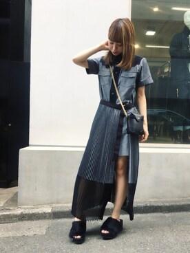MIDWEST TOKYO WOMEN|黒須結さんの(Sacai)を使ったコーディネート