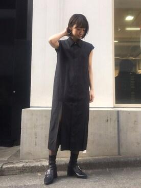 MIDWEST TOKYO WOMEN|kurosu    yuiさんの「SHIRT DRESS(JOHN LAWRENCE SULLIVAN)」を使ったコーディネート