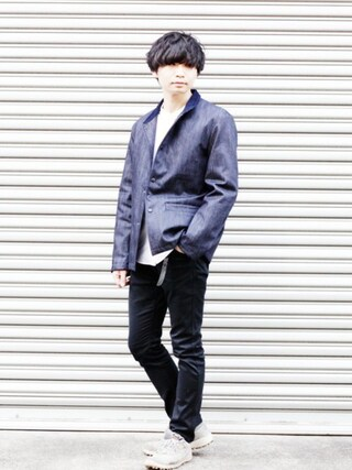 「DWELLAR TIGHT FIT JEANS(Rags McGREGOR)」 using this BRITISH MADE オンラインショップ|TomokiMatsui looks