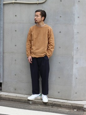 JOURNAL STANDARD 渋谷店|田口 馨さんのTシャツ/カットソー「スウェットキモウ C/N #(JOURNAL STANDARD|ジャーナルスタンダード)」を使ったコーディネート