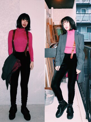 「NOMA STRETCH PANTS(mother)」 using this eri looks