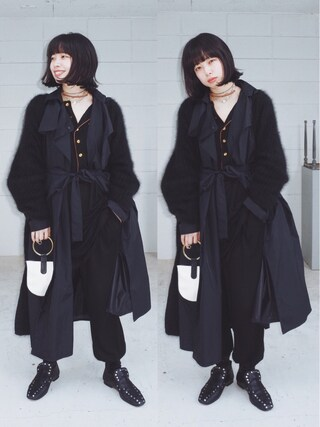 """「mother""""SONIA""""angora knit gown(mother)」 using this eri looks"""