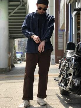 Schott South|Tomoyaさんのシャツ/ブラウス「Schott/ショット/DENIM WORK SHIRT/デニム ワークシャツ(schott|ショット)」を使ったコーディネート