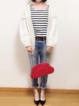 Mameさんの「Hand Knit Cardigan(TODAYFUL)」を使ったコーディネート