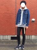 サスケさんの「【WEB限定/MADE IN JAPAN】GIロングベルト/757453(RAGEBLUE レイジブルー)」を使ったコーディネート