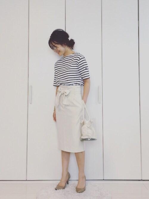 yumi_mamaさんの「【SAINT JAMES/セントジェームス】  PIRIAC ボーダー #(SAINT JAMES)」を使ったコーディネート