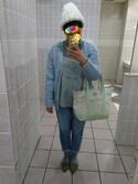 ぬーさんの「お家で洗えてきれいがつづく フレアーニットキャミソール(haco!|ハコ)」を使ったコーディネート