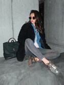 「FOREVER 21 Metallic Faux Patent Oxfords(Forever 21)」 using this 影山可蓮 looks