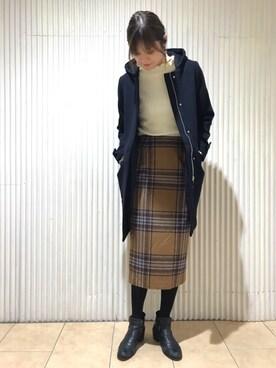 apart by lowrys/横浜ジョイナス店 MOMOCOさんの「12GCAフリルリブハイネックPO 774282(apart by lowrys)」を使ったコーディネート
