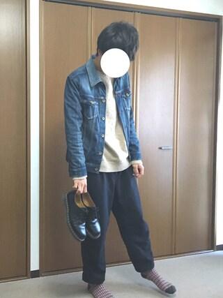 「・TRツイル テーパードアンクルパンツ(SEVENDAYS=SUNDAY)」 using this kazu looks