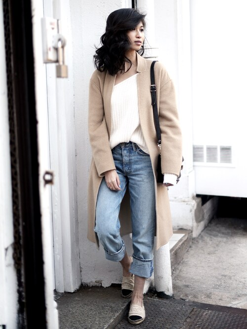 「Olivaceous One Shoulder Sweater(Olivaceous)」 using this VANNY looks