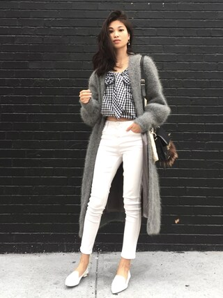 「Topshop Moto white jamie jeans(Topshop)」 using this VANNY looks