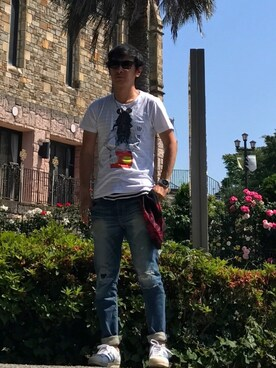 KOU さんの「【NO COMMNET PARIS】MENS 別注 tee shirts(NO COMMENT PARIS ノーコメントパリ)」を使ったコーディネート