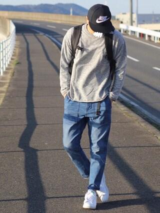 しんごさんの「BY ∴ ブリッツスウェット ワイドフォルム -MADE IN JAPAN-(BEAUTY&YOUTH UNITED ARROWS|ビューティアンドユースユナイテッドアローズ)」を使ったコーディネート