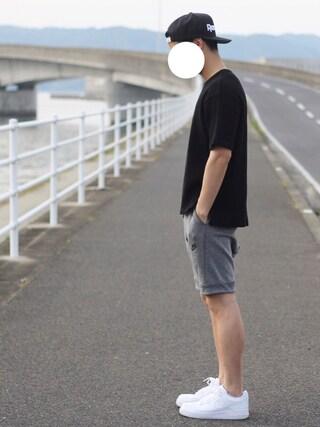 「ヘビーワッフルポケットビッグTシャツ(nano・universe)」 using this しんご looks
