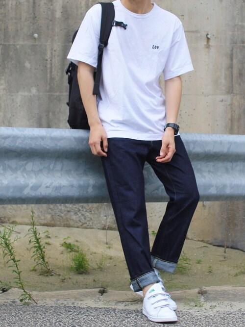 2ba74c8c88575 しんごさんの「Lee×DOORS-natural- スモールロゴTシャツ(Lee