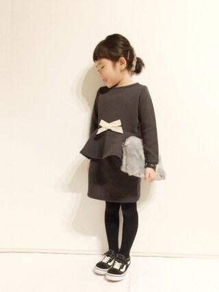 yuuunaさんのニット/セーター「裾ペプラムリボン付きニットセットアップ(petit main|プティマイン)」を使ったコーディネート