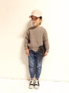 yuuunaさんの「ワンポイントスウェードキャップ(petit main|プティマイン)」を使ったコーディネート