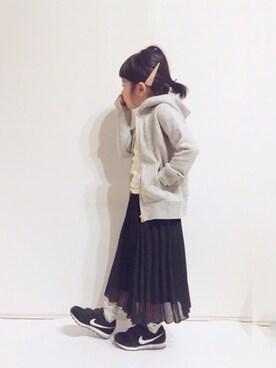 yuuunaさんのTシャツ/カットソー「5分袖ベーシックTシャツ (b・ROOM|ビールーム)」を使ったコーディネート