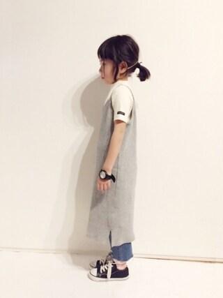 yuuunaさんの「5分袖ベーシックTシャツ(b・ROOM ビールーム)」を使ったコーディネート