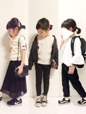 yuuunaさんのTシャツ/カットソー「5分袖ベーシックTシャツ (b・ROOM ビールーム)」を使ったコーディネート