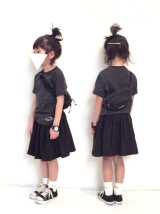 yuuunaさんの「ワンポイント&ポケット半袖Tシャツ2枚セット(b・ROOM ビールーム)」を使ったコーディネート