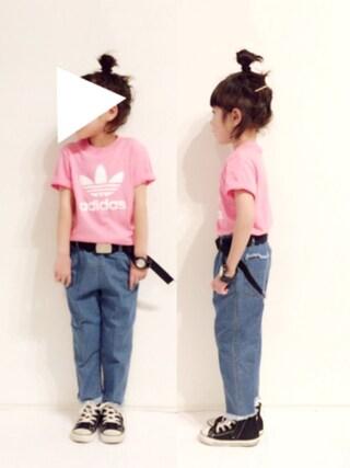yuuunaさんの「【adicolor】 Tシャツ [TREFOIL TEE](adidas アディダス)」を使ったコーディネート