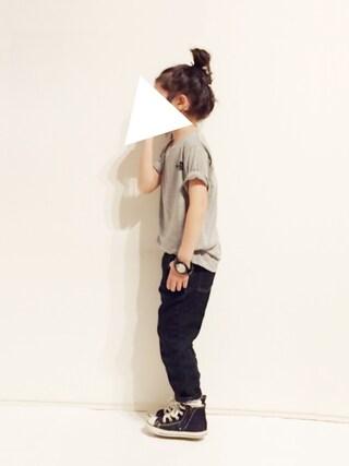 "yuuunaさんの「THE NORTH FACE / ""DRY MIX"" Tシャツ (100~140㎝)(こども ビームス|コドモビームス)」を使ったコーディネート"