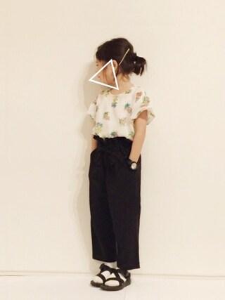 yuuunaさんの「ボリューム袖プルオーバー(b・ROOM|ビールーム)」を使ったコーディネート