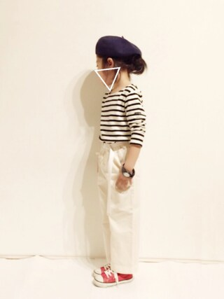 yuuunaさんの「ベーシックベレー帽(petit main|プティマイン)」を使ったコーディネート