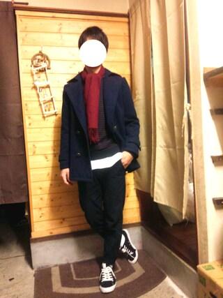 「MEN オックスフォードスタンドカラーシャツ(長袖)(ユニクロ)」 using this こーいち looks