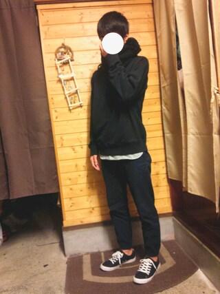 「MEN ジョガーパンツ(ウールライク・レングス68~72cm)(ユニクロ)」 using this こーいち looks