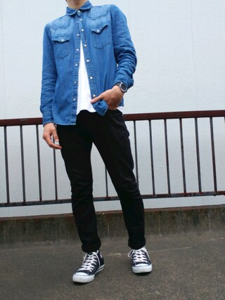 「URBAN RESEARCH STRETCH SKINNY TROUSER(URBAN RESEARCH)」 using this こーち looks