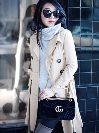 「Gucci GG 2.0 Medium Quilted Leather Shoulder Bag(GUCCI)」 using this Sheree looks