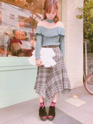 Casselini shop|natsumiさんの(Lily Brown|リリー ブラウン)を使ったコーディネート