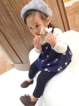 かえでさんの(韓国子供服)を使ったコーディネート