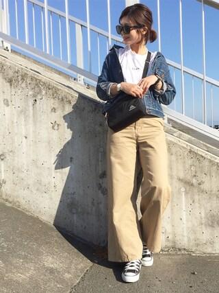 k c o ◡̈♥︎さんの「デニムシーンズジャケット(TODAYFUL|トゥデイフル)」を使ったコーディネート