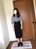 ♡あーりん♡さんの「レースアップワイドコルセット(MURUA|ムルーア)」を使ったコーディネート