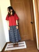 ♡あーりん♡さんの「ストラップヒールサンダル  749747(LOWRYS FARM|ローリーズ ファーム)」を使ったコーディネート