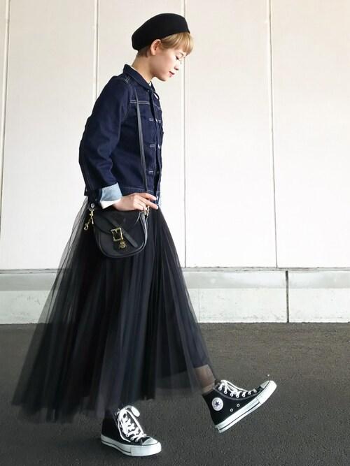 YUKIさんのスニーカー「converse(コンバース) ALL STAR HI(オールスターHI)(CONVERSE|コンバース)」を使ったコーディネート
