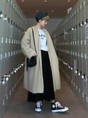 YUKIさんの「【店頭人気】モヘヤシャギーコート(ADAM ET ROPE'|アダム エ ロペ)」を使ったコーディネート