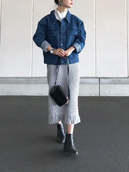 yukiさんの「ツィードタイトスカート(MYSELF ABAHOUSE)」を使ったコーディネート