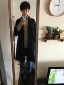 yusukeさんの「ロングステンカラーコート/568534(RAGEBLUE|ダニエルウェリントン)」を使ったコーディネート