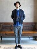 saitoさんの「BEAMS LIGHTS / DICROSリップストップMA-1(BEAMS LIGHTS Men's|ビームスライツ メンズ)」を使ったコーディネート