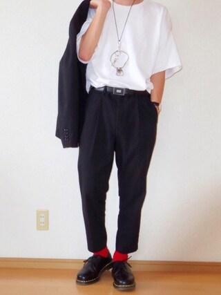 おさゆうさんの「WEGO/スラブ天竺ビッグTシャツ(WEGO|ウィゴー)」を使ったコーディネート