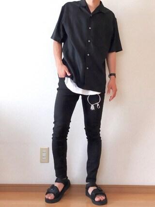 おさゆうさんの「オープンカラーシャツ(半袖)(ユニクロ|ユニクロ)」を使ったコーディネート