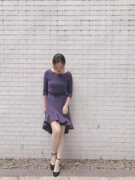 JILLSTUART_Officialスタッフコーデ|yukoさんの「◆ファーヒールパンプス(JILLSTUART)」を使ったコーディネート