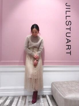 JILLSTUART_Officialスタッフコーデ|yukoさんの「◆マリーアンゴラニット(JILLSTUART)」を使ったコーディネート
