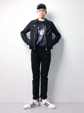 ZOZOTOWN|まっこいさんの「直営店舗限定_POCKET T-SHIRTS_CHARLES PETERSON#1(NUMBER (N)INE)」を使ったコーディネート